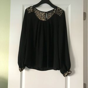 Forever 21 black top with animal print